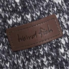 Jones Fur Lined Chunky Knit Jacket Navy Marl
