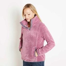 Octavia Plush Fur Pop Over Fleece Sloeberry