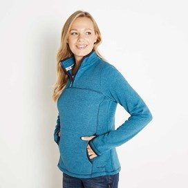 Jessie 1/4 Zip Soft Knit Fleece Top Blue Jay