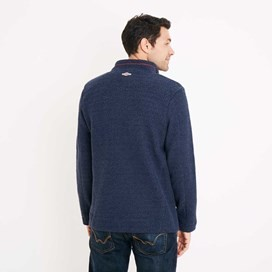 Albany 1/4 Zip Technical Popcorn Fleece Top Blueberry