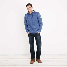 State 1/4 Zip Soft Knit Fleece Sweatshirt Estate Blue