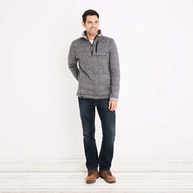 State 1/4 Zip Soft Knit Fleece Sweatshirt Black