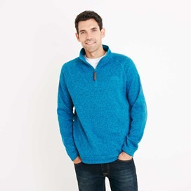 Bare 1/4 Zip Soft Knit Fleece Top Blue Jay