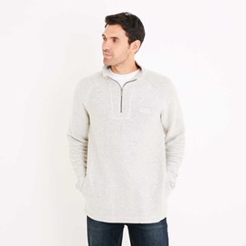 Helm 1/4 Zip Seira Knit Sweatshirt Soft Grey