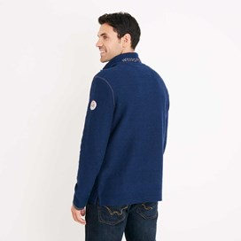 Thor 1/4 Zip Technical Macaroni Sweatshirt Estate Blue
