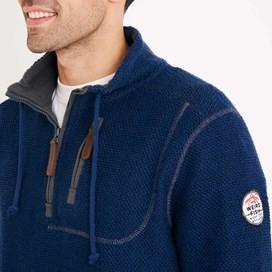 Thor 1/4 Zip Technical Macaroni Sweatshirt Estate Blue