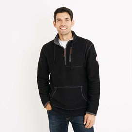 Thor 1/4 Zip Technical Macaroni Sweatshirt Black