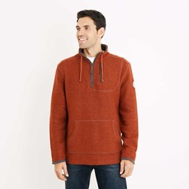 Thor 1/4 Zip Technical Macaroni Sweatshirt Burnt Henna