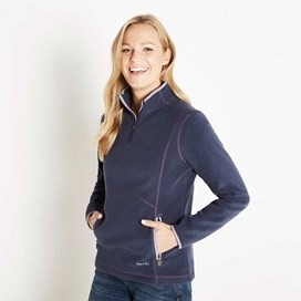 Christie 1/4 Zip Microfleece Top Midnight