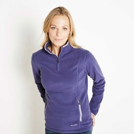 Christie 1/4 Zip Microfleece Top Dark Violet