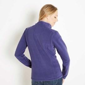 Christie 1/4 Zip Microfleece Top Dark Violet