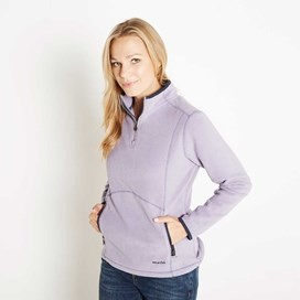 Christie 1/4 Zip Microfleece Top Lavender Grey