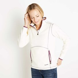 Christie 1/4 Zip Microfleece Top Ivory