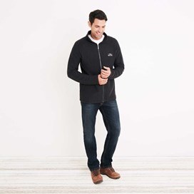 Helmstead Full Zip Zip Seira Knit Black