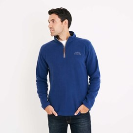 Hagan 1/4 Zip Microfleece Top Estate Blue