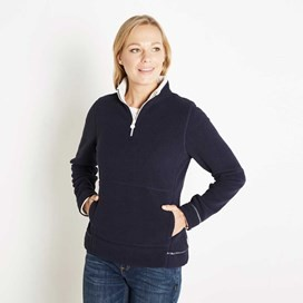 Lily 1/4 Zip Popcorn Fleece Dark Navy