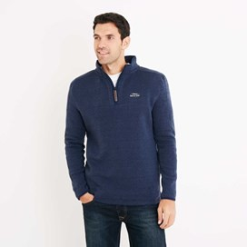 Talas 1/4 Zip Soft Knit Top Dark Navy