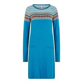 Sebah Fair Isle Knitted Dress Blue Jay