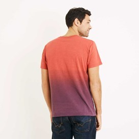 Quil Double Dip Dyed Graphic T-Shirt Dark Red