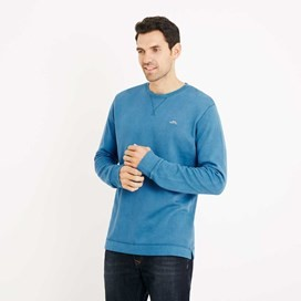 Trace Long Sleeve Crew Neck T-Shirt Blue Jay