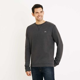 Trace Long Sleeve Crew Neck T-Shirt Black