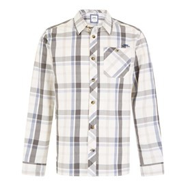 Ezra Lightweight Core Long Sleeve Check Shirt Light Cream