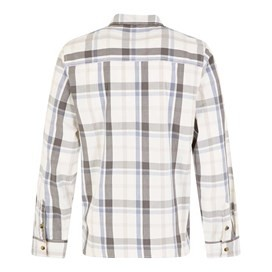 Ezra Lightweight Core Long Sleeve Check Shirt Light Cream