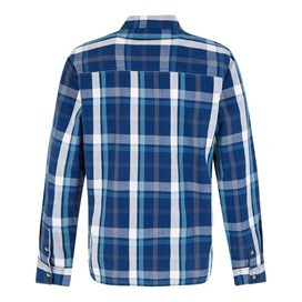 Ezra Lightweight Core Long Sleeve Check Shirt Estate Blue