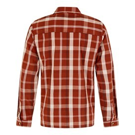 Ezra Lightweight Core Long Sleeve Check Shirt Burnt Henna