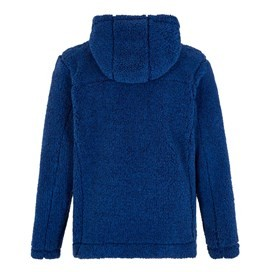 Salem Button Neck Toasty Fur Fabric Hoodie Estate Blue