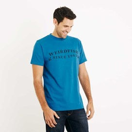 Anchor Graphic Print T-Shirt Blue Jay