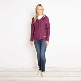 Tilly Light Macaroni Hooded Sweatshirt Mulberry