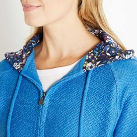 Tilly Light Macaroni Hooded Sweatshirt Aster Blue
