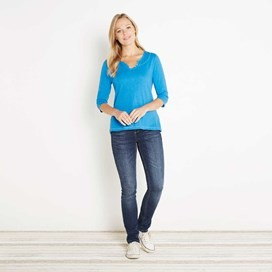 Petra 3/4 Sleeve T-Shirt Aster Blue