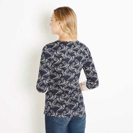 Kerouac Printed Jersey T-Shirt Navy