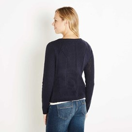 Springfield Pointelle Cardigan Midnight
