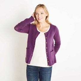Springfield Pointelle Cardigan Mulberry