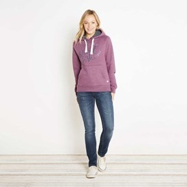 Dawn Graphic Print Hoodie Mulberry