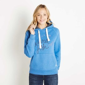 Dawn Graphic Print Hoodie Aster Blue