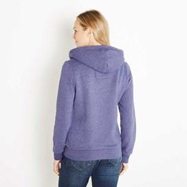 Polly Full Zip Applique Hoodie Dark Violet