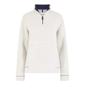 Bjarne 1/4 Zip Borg Polar Fur Top Ivory