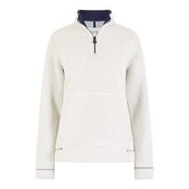 Bjarne 1/4 Zip Borg Polar Fur Top Ivory