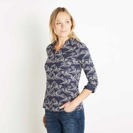 Agua Printed Jersey Shirt Navy