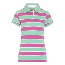 Mallow Short Sleeve Yarn Dyed Stripe Rugby Purple Orchid
