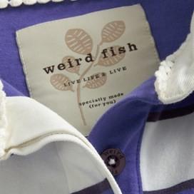 Mallow Short Sleeve Yarn Dyed Stripe Rugby Purple Opulence
