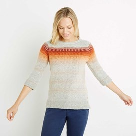 Arua Striped Knitted Jumper Light Cream