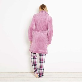 Fernanda Plush Fur Fleece Dressing Gown Sloeberry