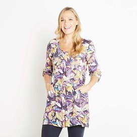 Hilda Printed Woven Tunic Mulberry