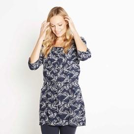 Hilda Printed Woven Tunic Navy