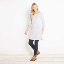 Artisan Loopback Shift Dress Lavender Grey